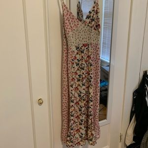 Zara patterned floral tee length dress